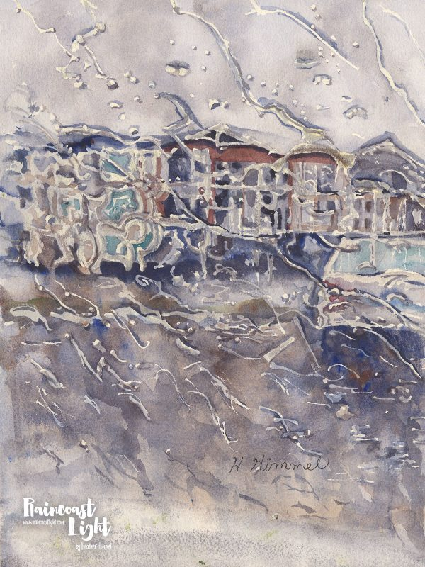 Rainy Day Through the Windshield by Heather Himmel