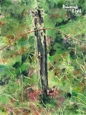 Scottish Moor Fence Post 2 by Heather Himmel